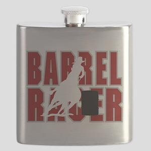 BARREL RACER [maroon] Flask